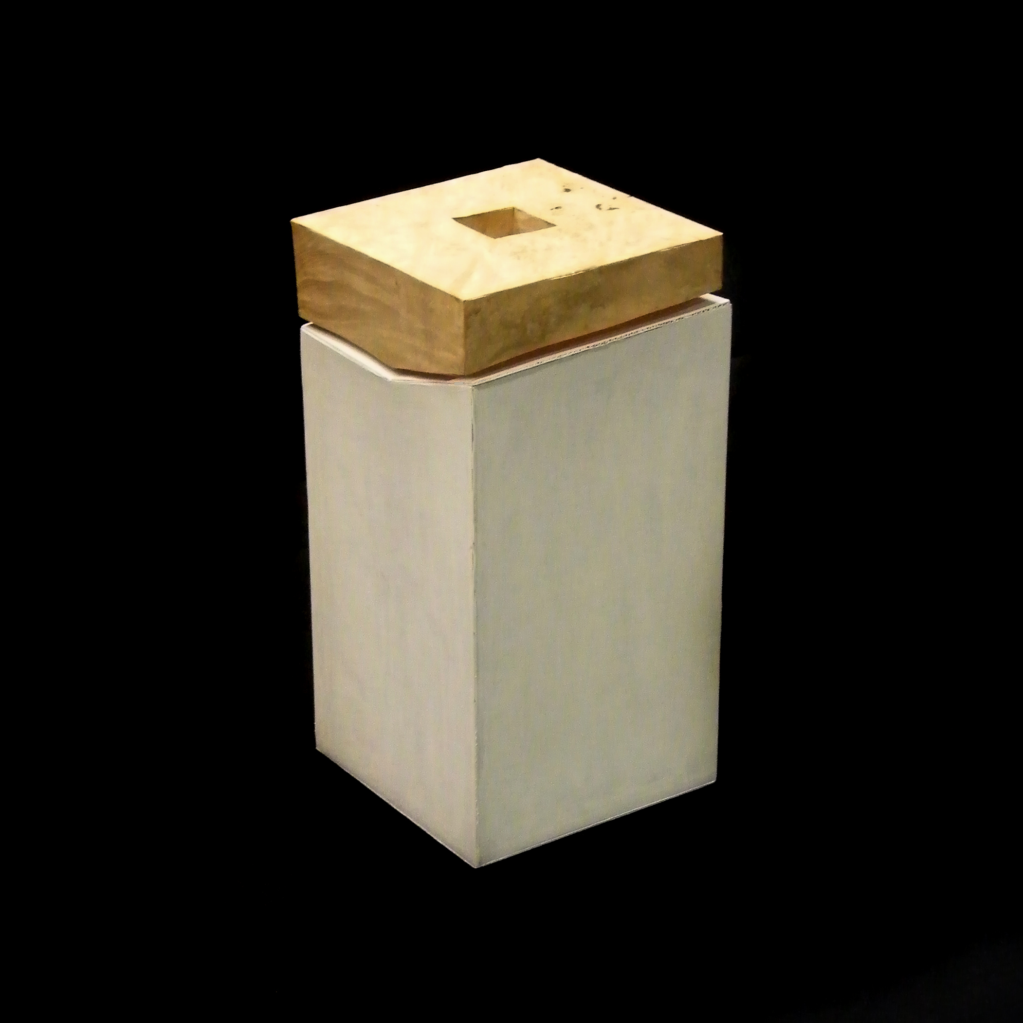 Earthen Vessel: Model. Cardboard, Birdseye maple.