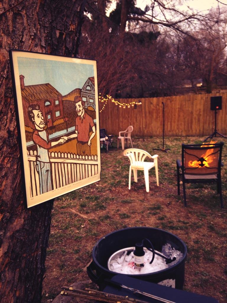 My back yard for  Neighbors Live!