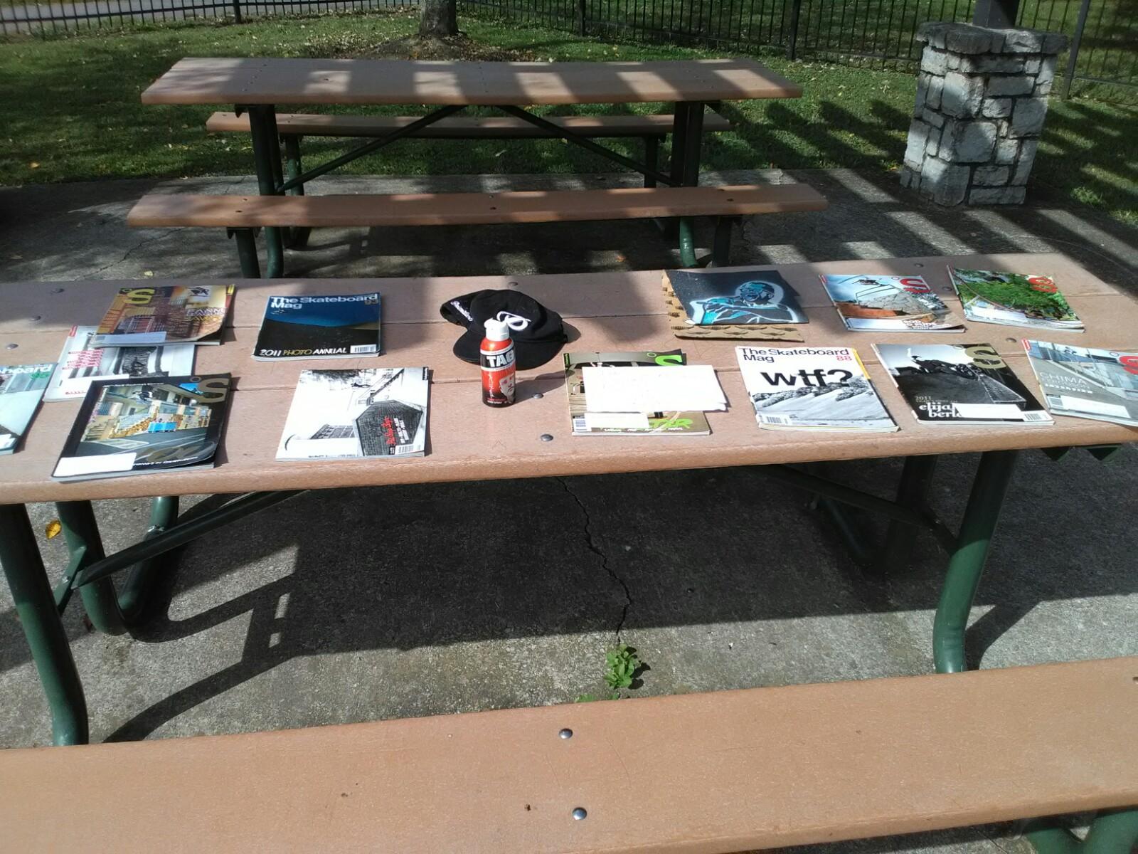 Photos of Joel's shrine at Jim Warren skate park in Franklin, TN.