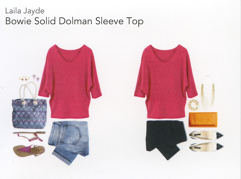 Stitch Fix Review 1- Bowie Solid Dolman Sleeve Top