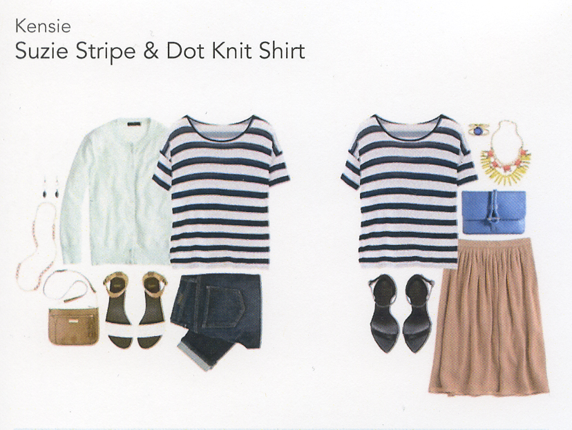 Stitch Fix Review 1- Suzie Stripe & Dot Knit Shirt