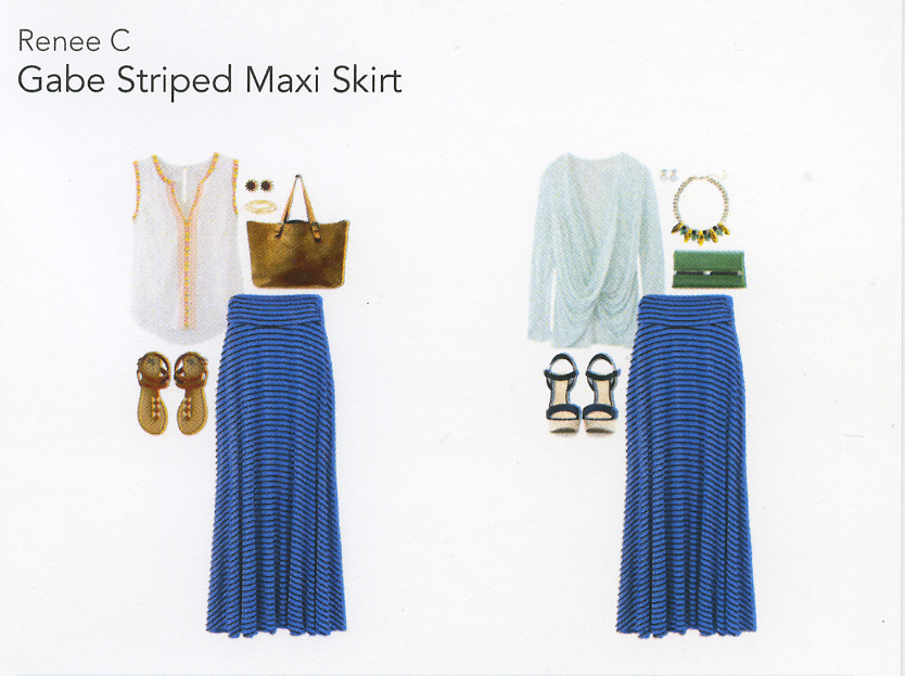 Stitch Fix Review 1- Gabe Striped Maxi Skirt