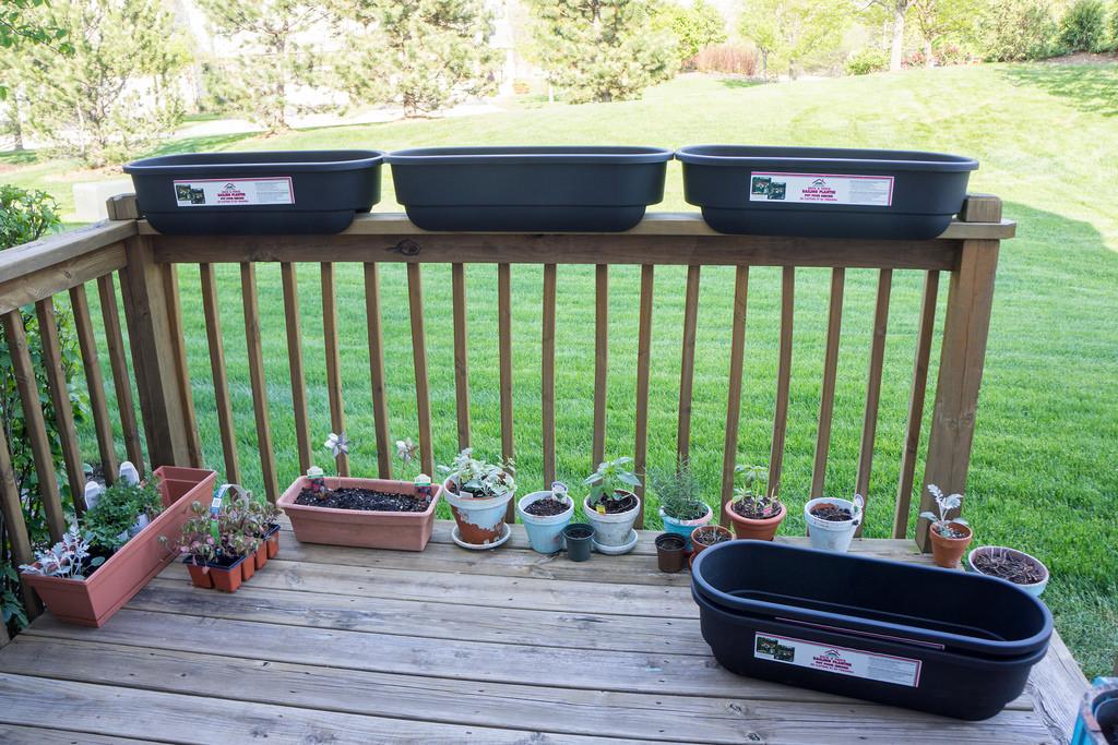 New Deck Railing Planters