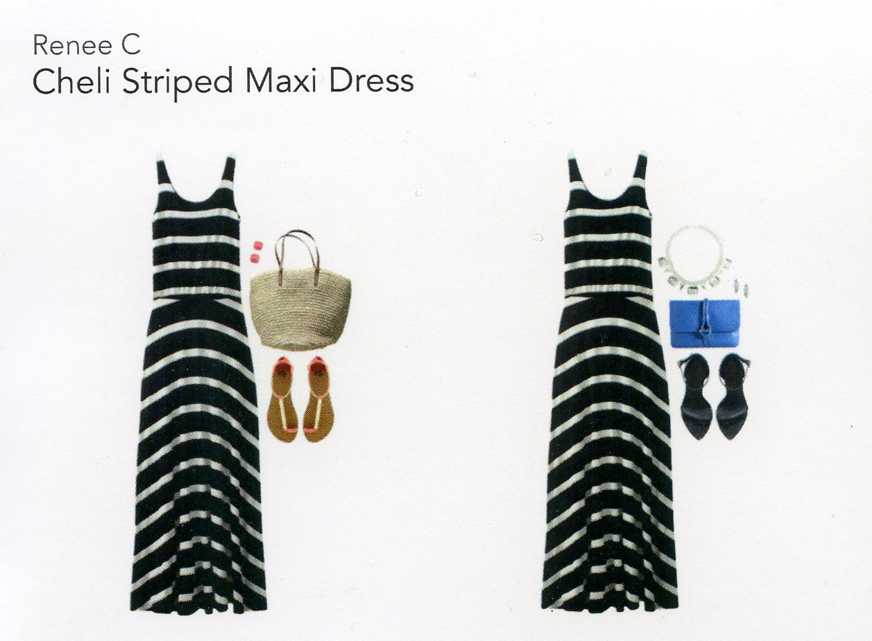 Stitch Fix- Cheli Striped Maxi Dress
