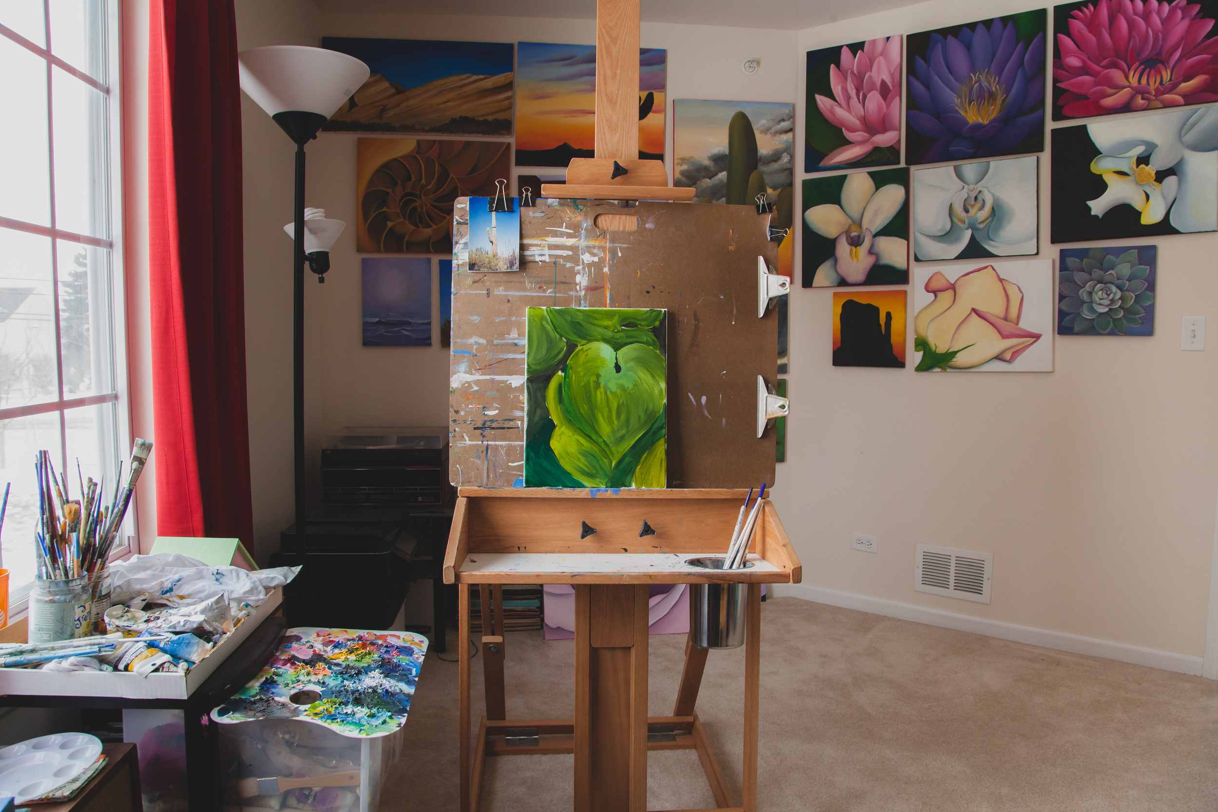 behind the scenes- my easel