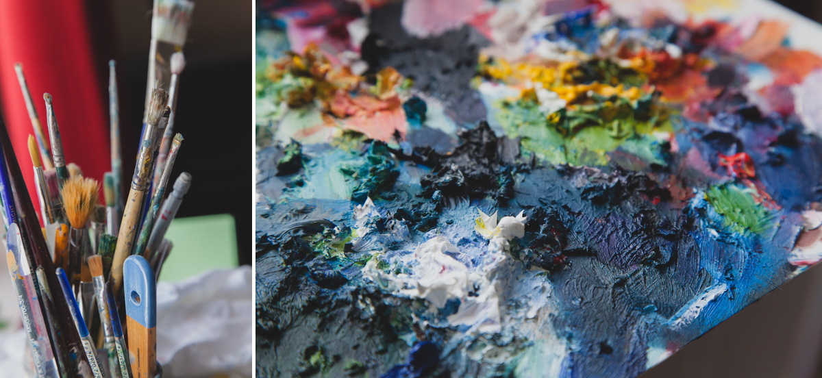 behind the scenes- studio space paints
