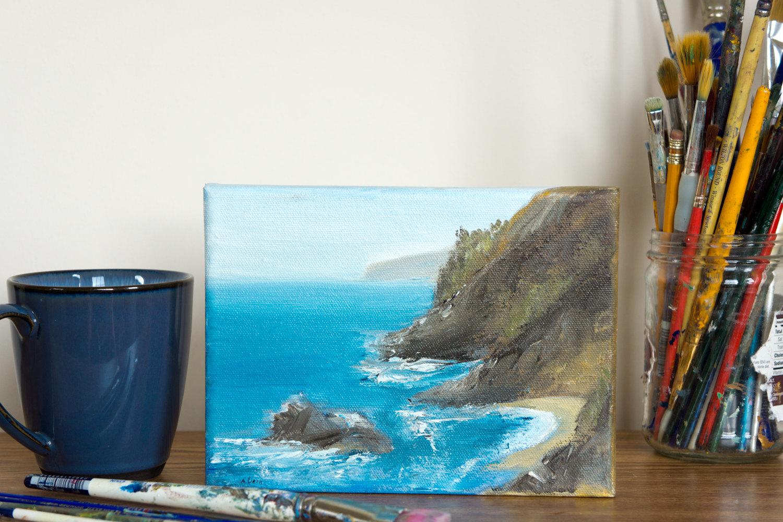 Monterey Coast Original Oil Painting 5x7