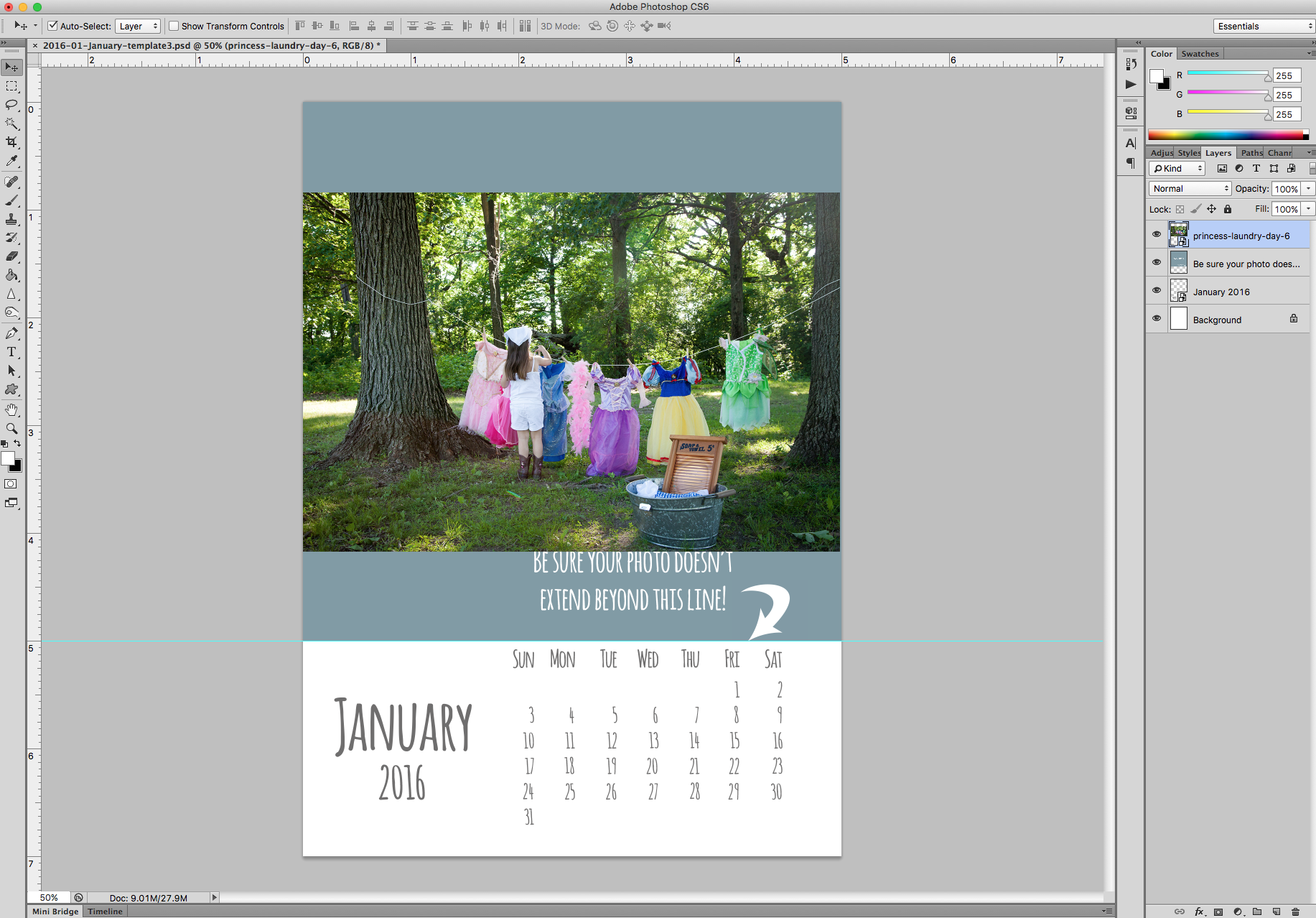 DIY Calendar Template- Easy Instructions