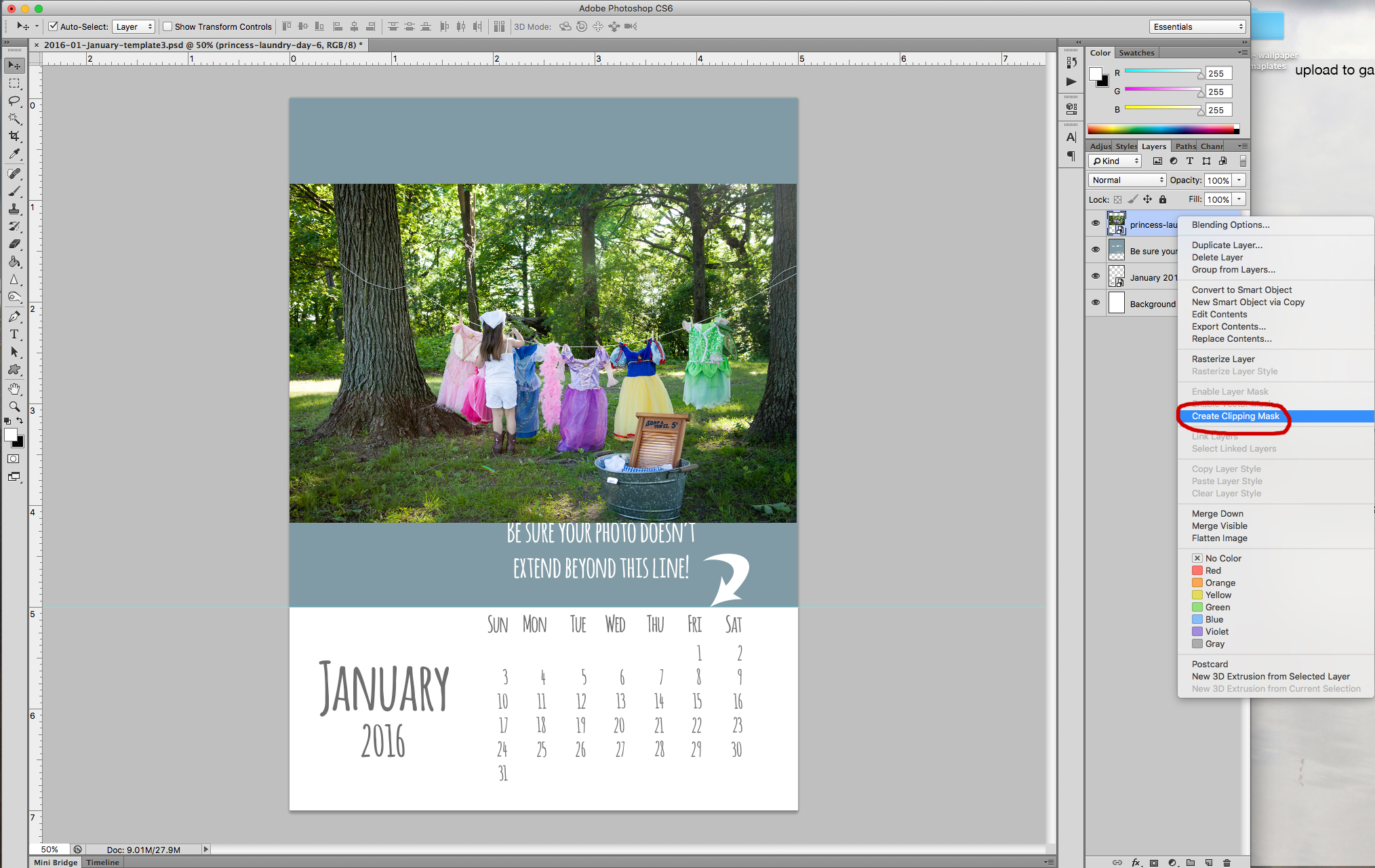 How to add photos to a Calendar Template