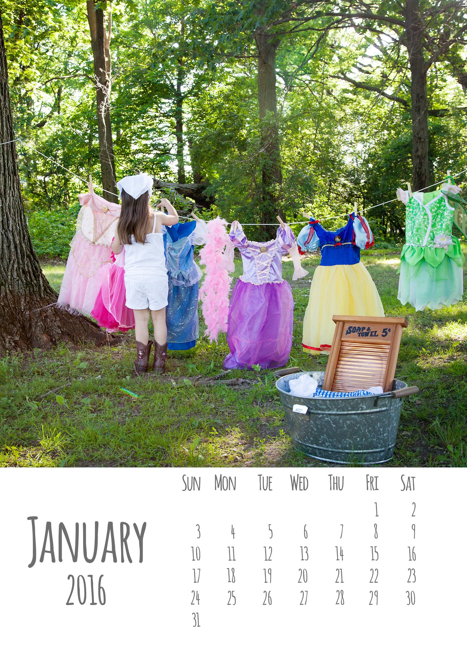 2016 DIY Calendar Templates