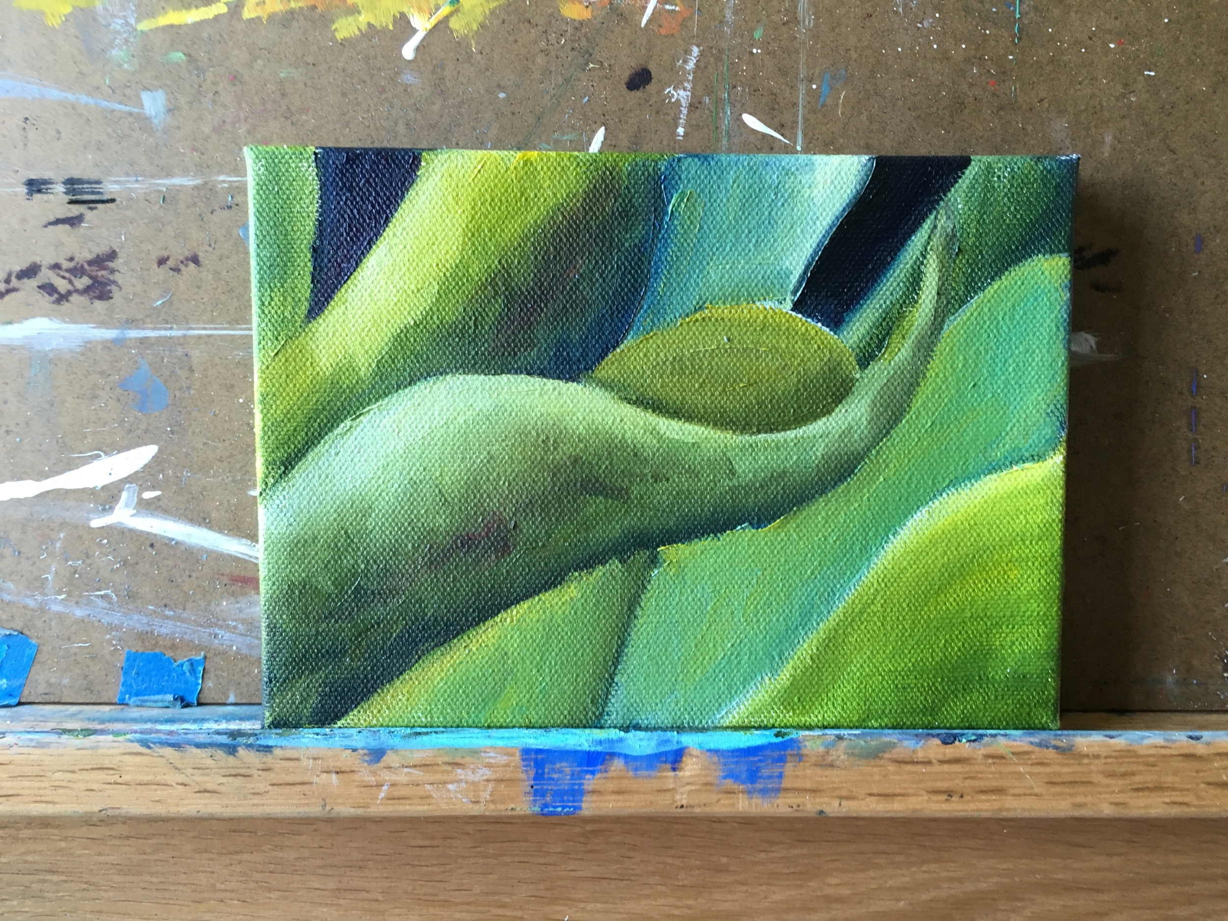 abstract green leaves - work in progess