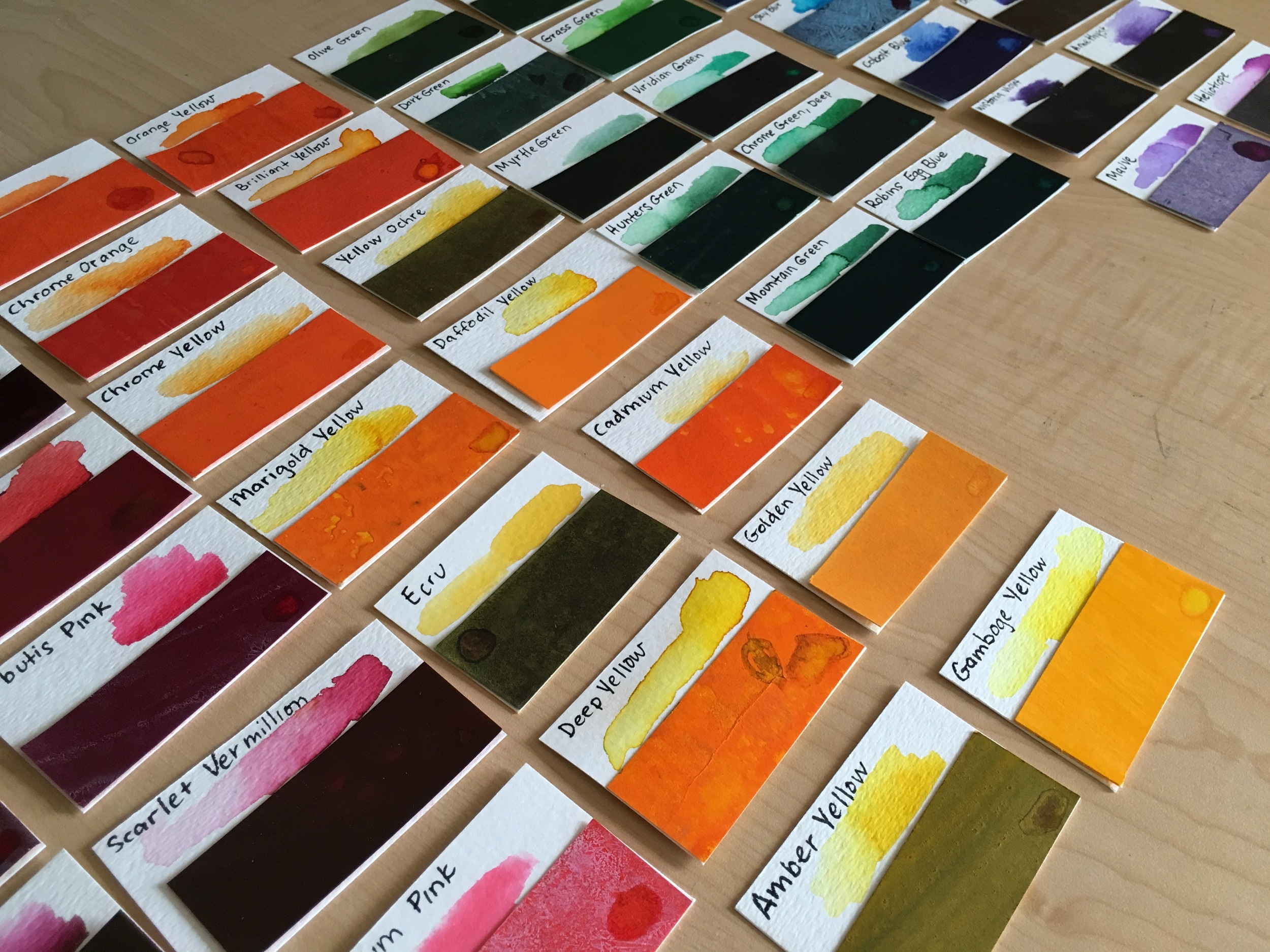 Peerless Watercolor Swatches for Palette Book