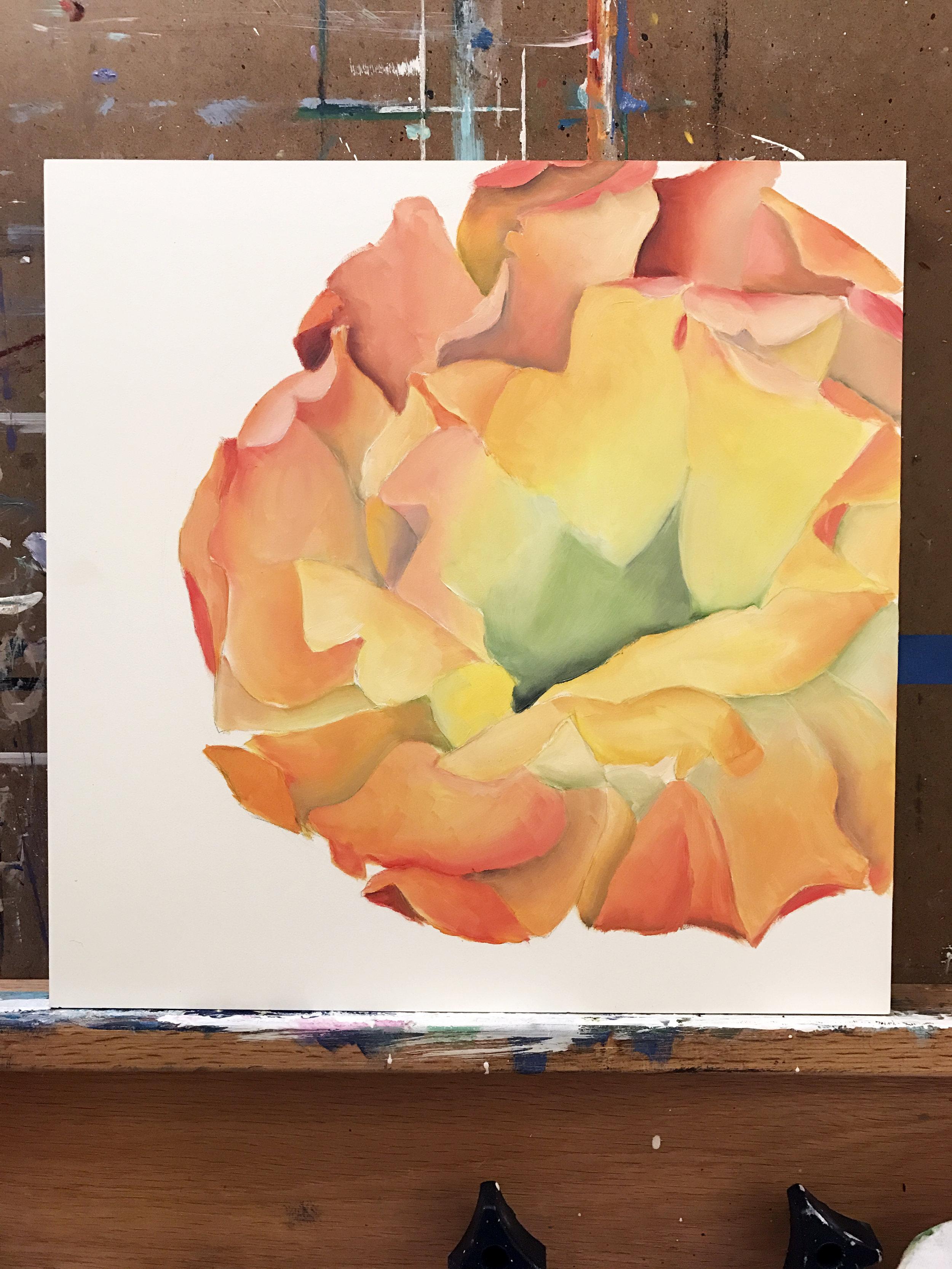 WIP Cactus Painting