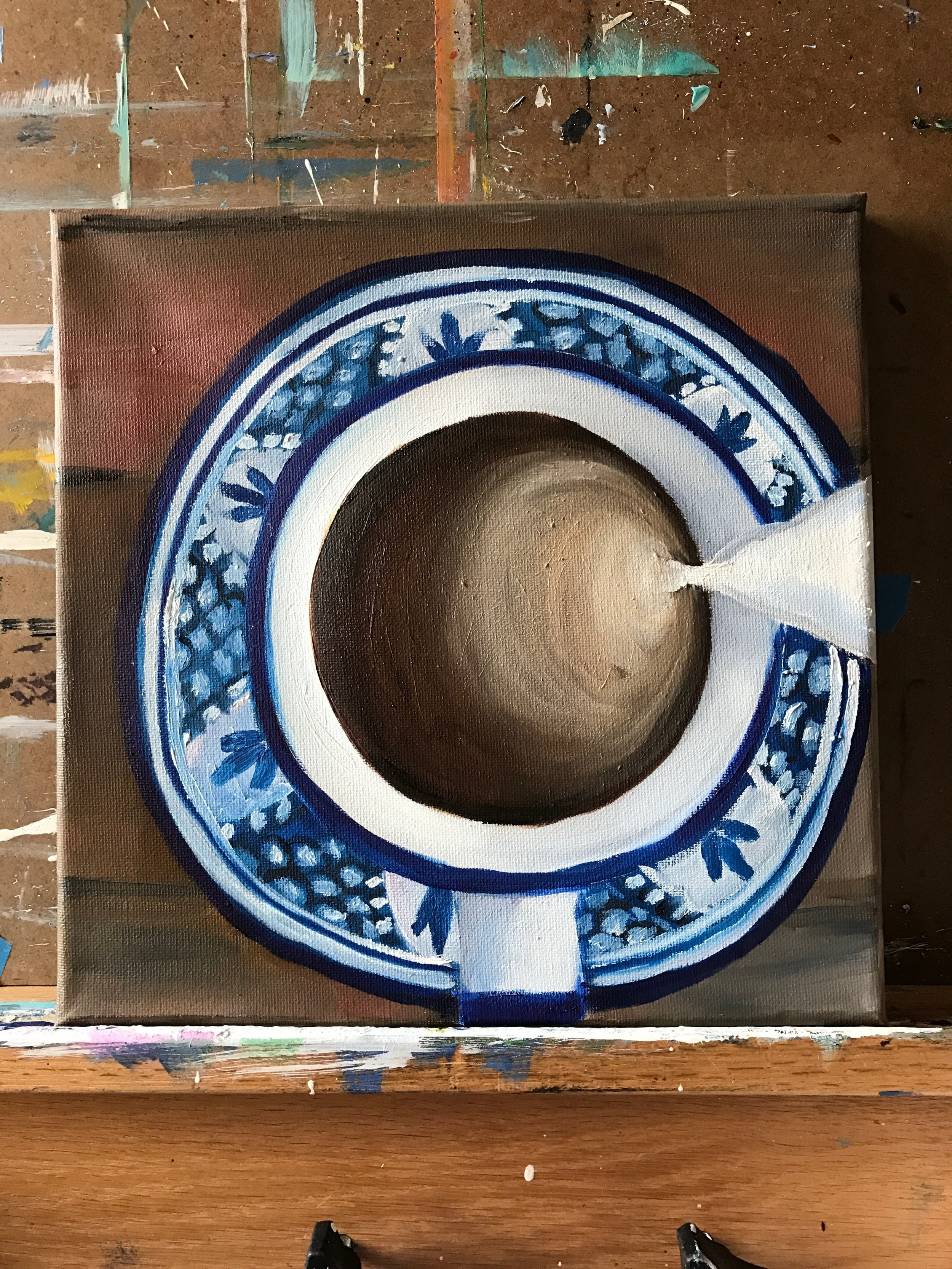 Coffee Cup Oil Painting - april bern