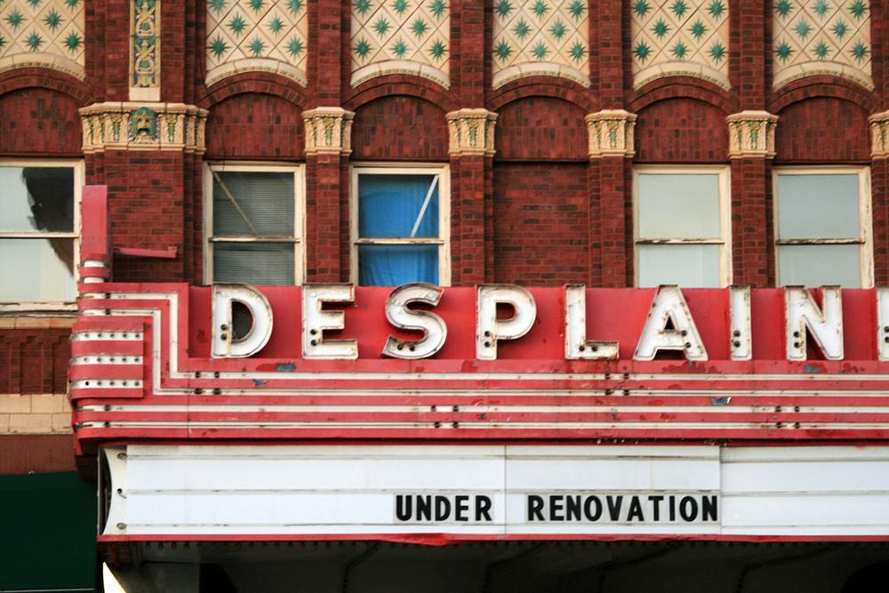 under renovations- des plaines theater