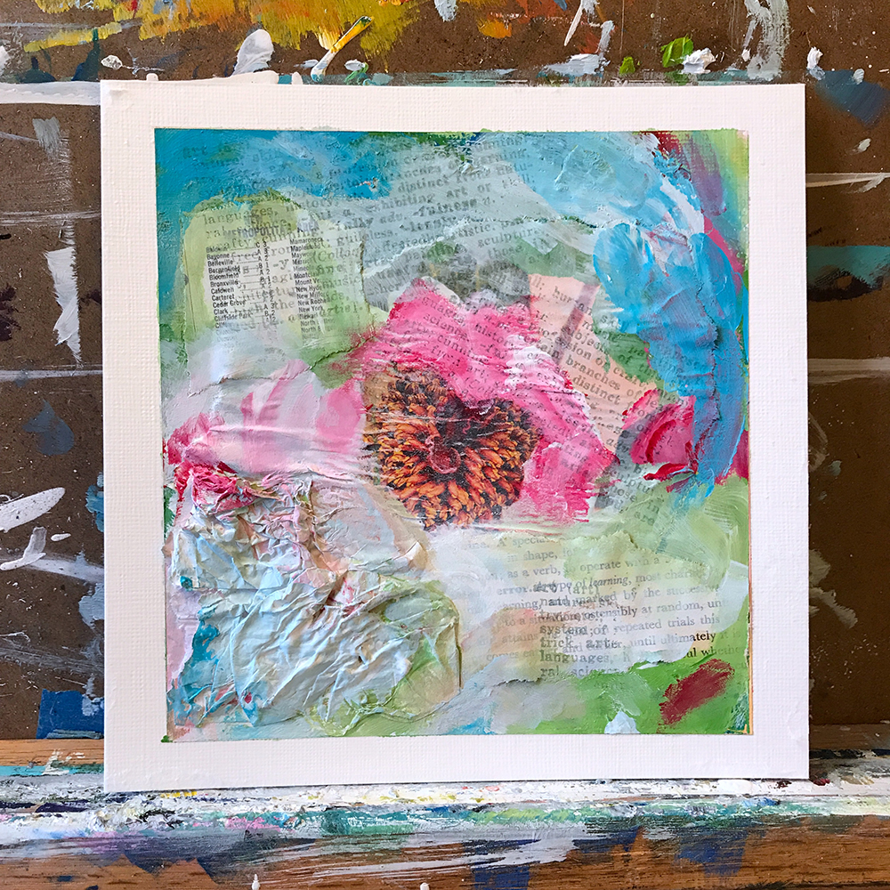 #The100DayProject - Abstract Mixed Media by april bern
