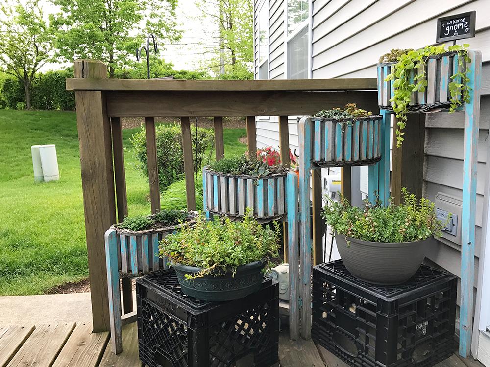 garden oasis - shabby chic planter