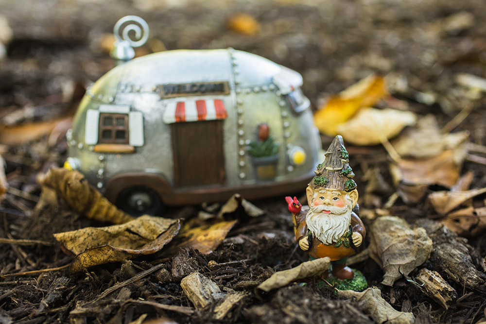 Happy Trails Camper Adventure Gnome