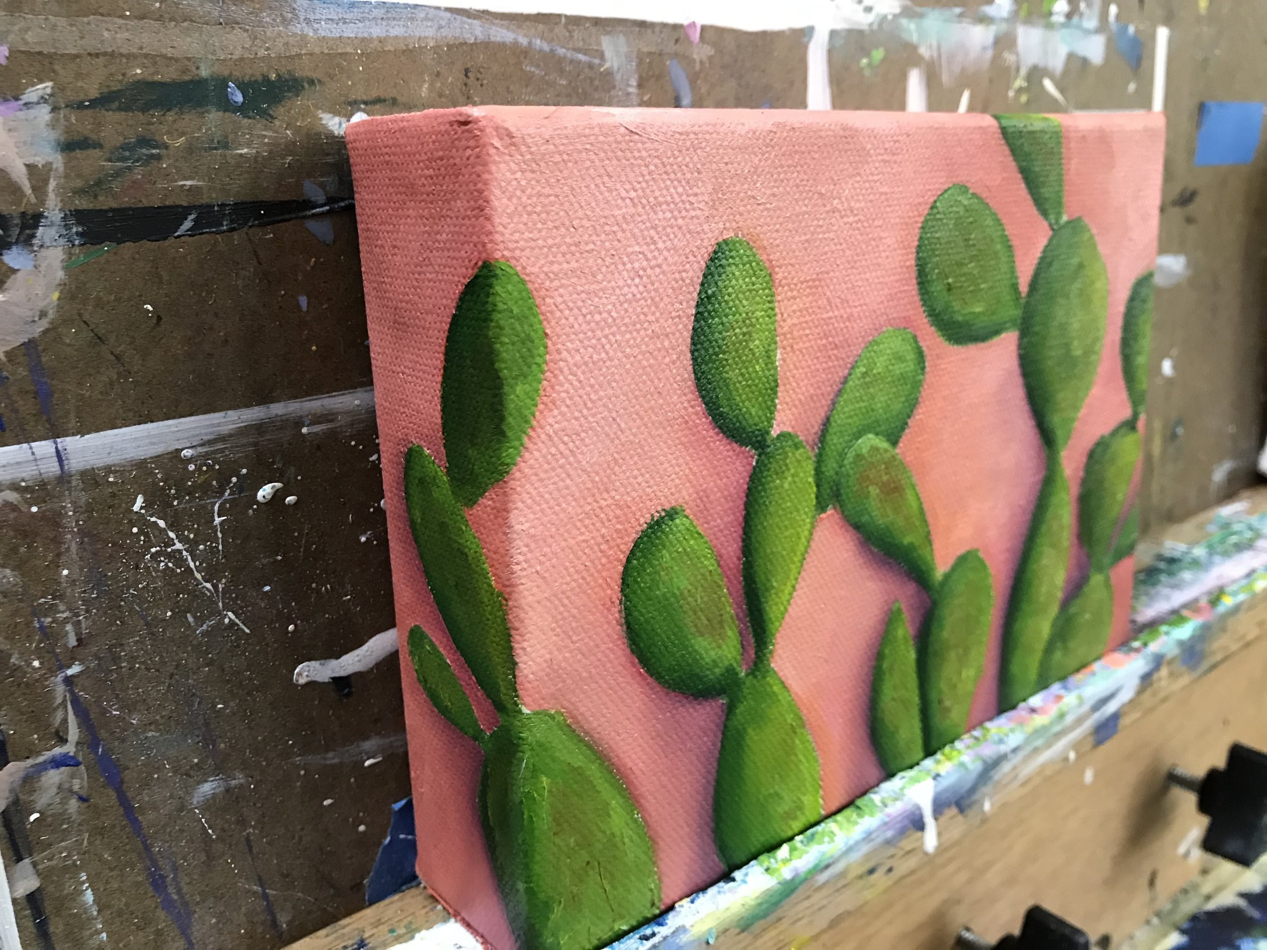 Cacti WIP - Cacti on Orange Wall