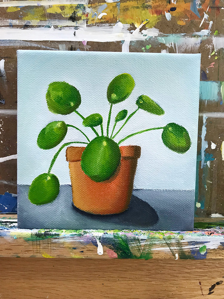 Pilea Painting by april bern