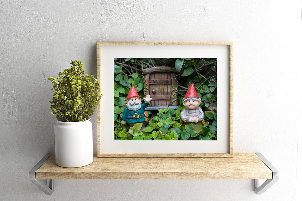 gnome matted photgraphy by april bern