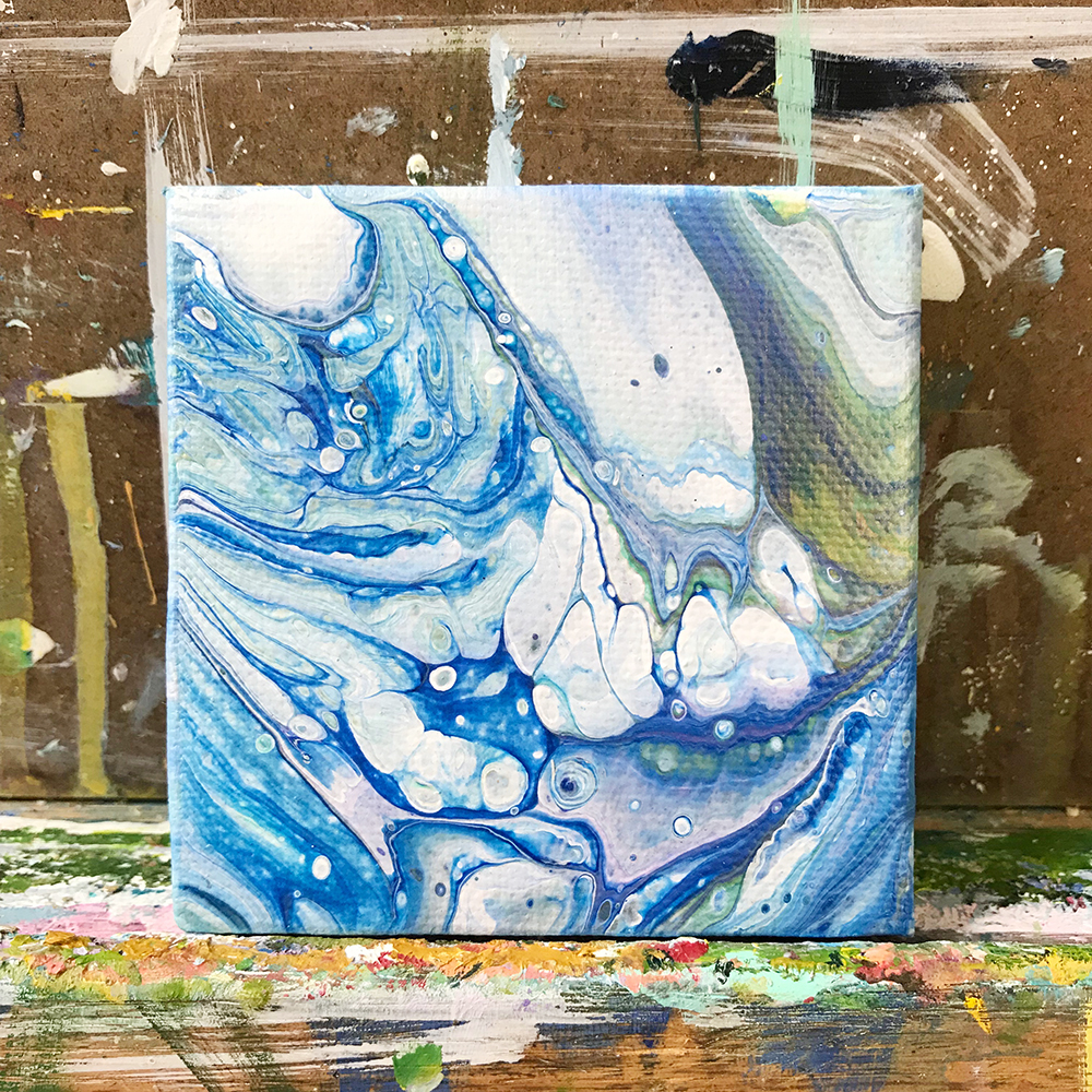 "62/100. 3""x3"" acrylic on canvas."