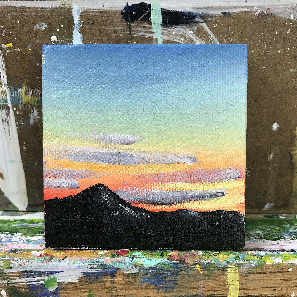 "63/100. 3""x3"" acrylic on tiny canvas."