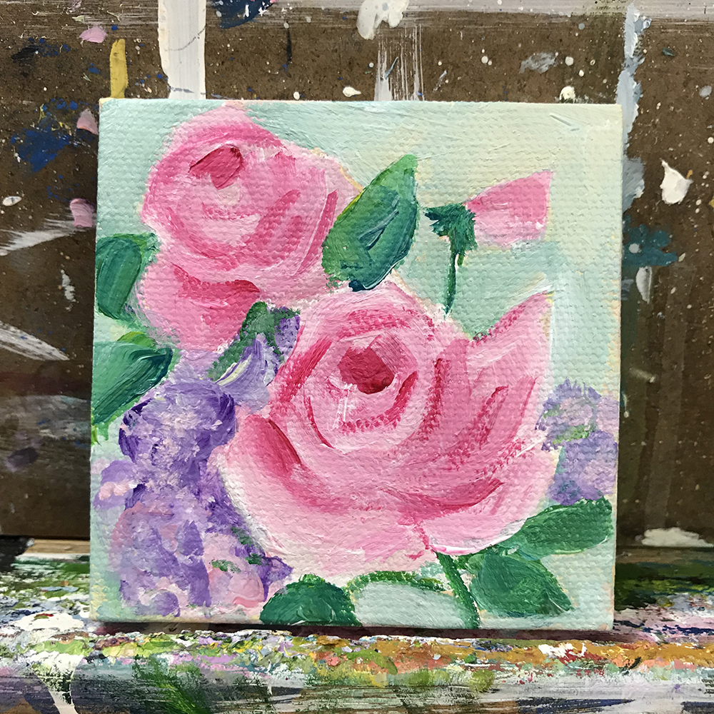 """72/100. 3""""x3"""" acrylic on canvas."""