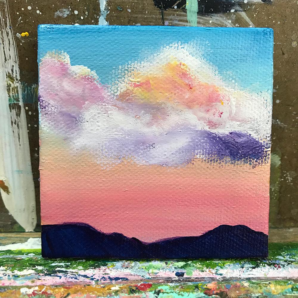 """94/100. 3""""x3"""" acrylic on canvas."""