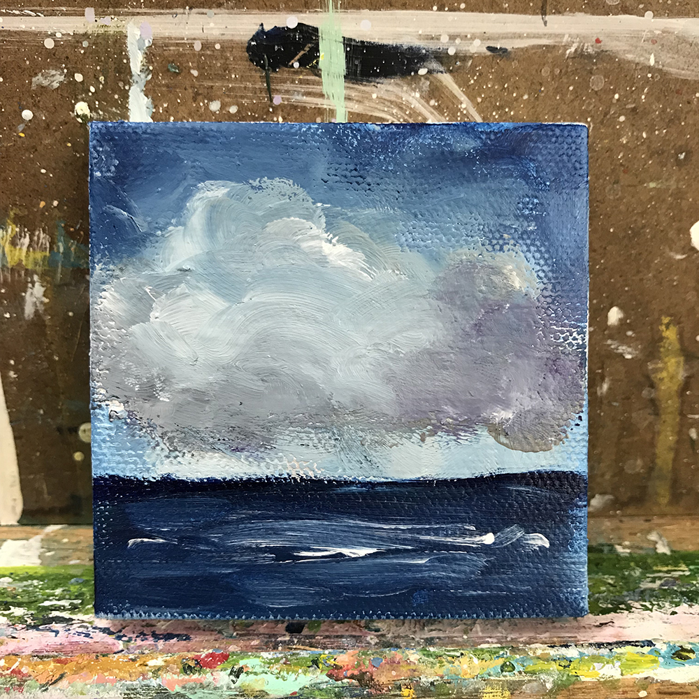 "99/100. Current Mood. 3""x3"" acrylic on canvas."