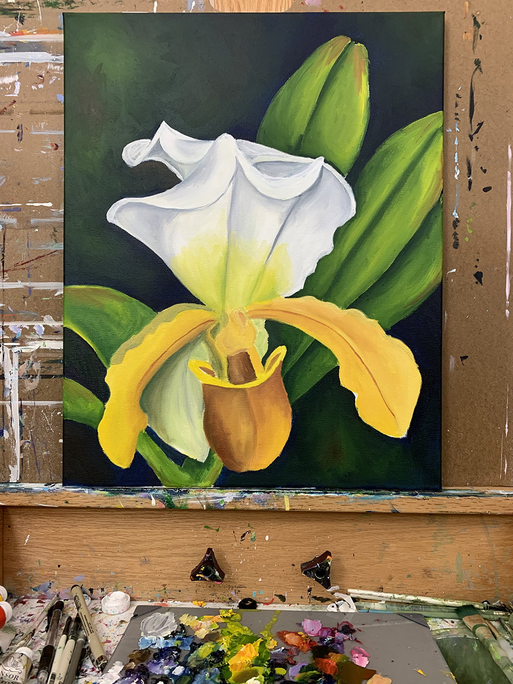lady slipper orchid painting almost finished.jpg