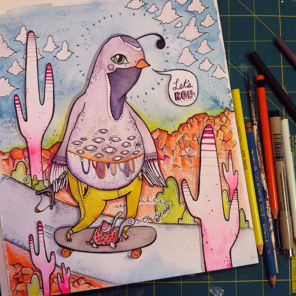 Tiffany Patterson - Lets Roll quail illustration.jpg