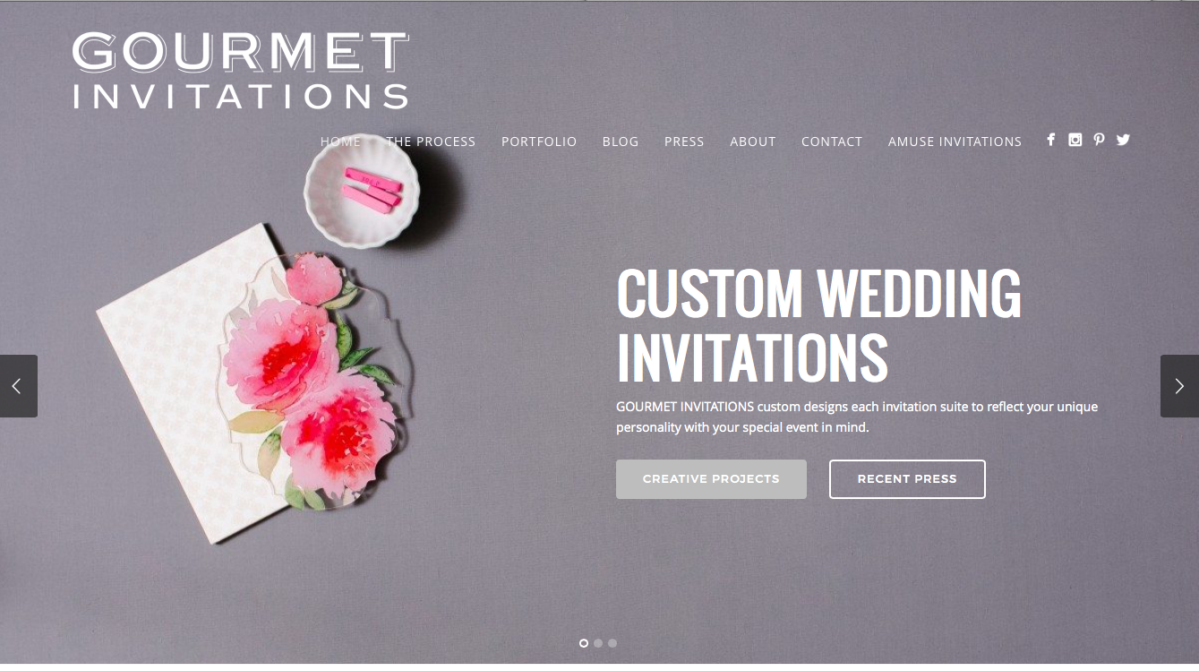 Tifany Wunschl, Gourmet Invitation |Editor's Edge | Visual Direction, Website Build, brand voice, brand strategy, brand management, visual brand manager, content strategy, creative consultant, contention curation, content marketing, image curation, photo editor, photo curation, visual content, visual content consultant, visual content creator, wedding professional, wedding business consultant, female business consultant, female entrepreneur, small business owner