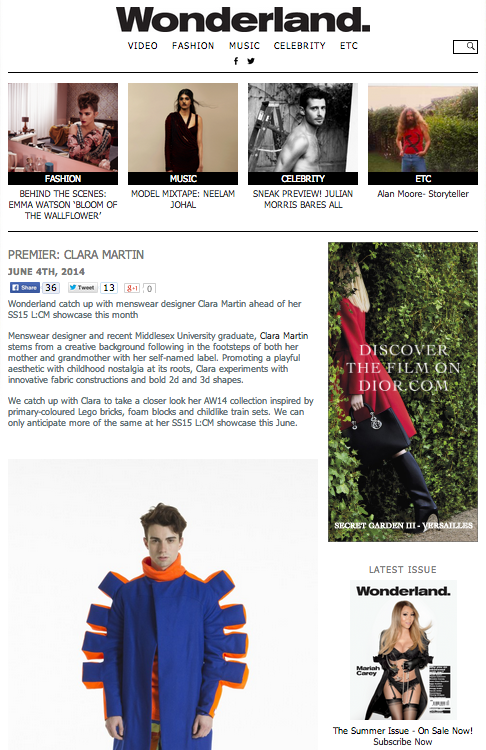 AW14 Feature on Wonderland