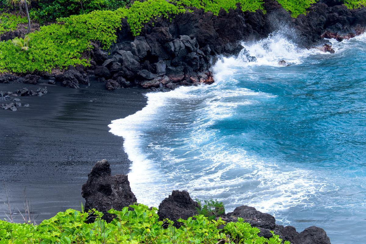 Black Sand Beach Maui J M Photography
