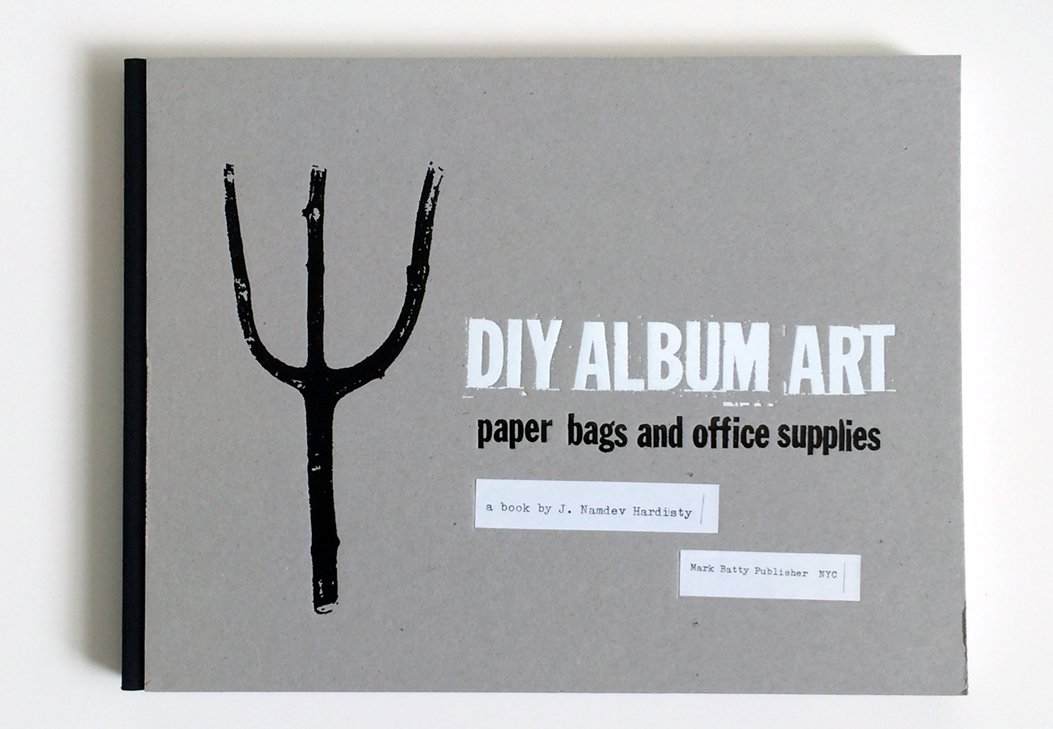 """DIY Album Art: Paper Bags and Office Supplies"" written and designed by The MVA Studio in 2009. The entire book was typeset with typewriters. Pitchfork illustration from Indian Summer's debut 7"" (1994)."