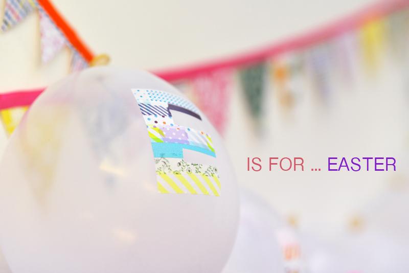washi tape balloon bunting easter