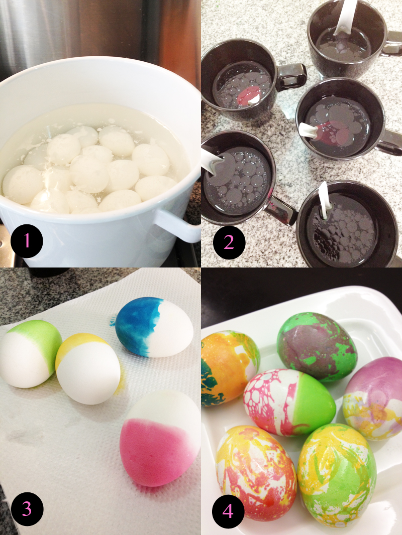 marbled marbleized eggs easter craft diy tutorial singapore