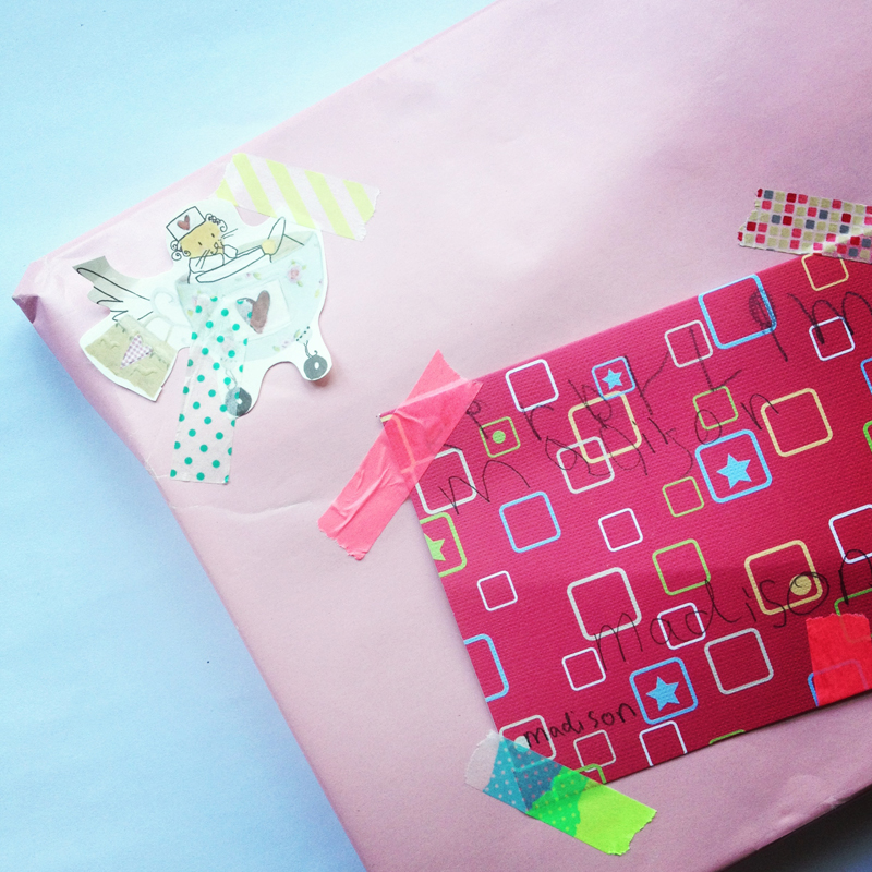 kids craft diy singapore decorate a gift washi tape birthday