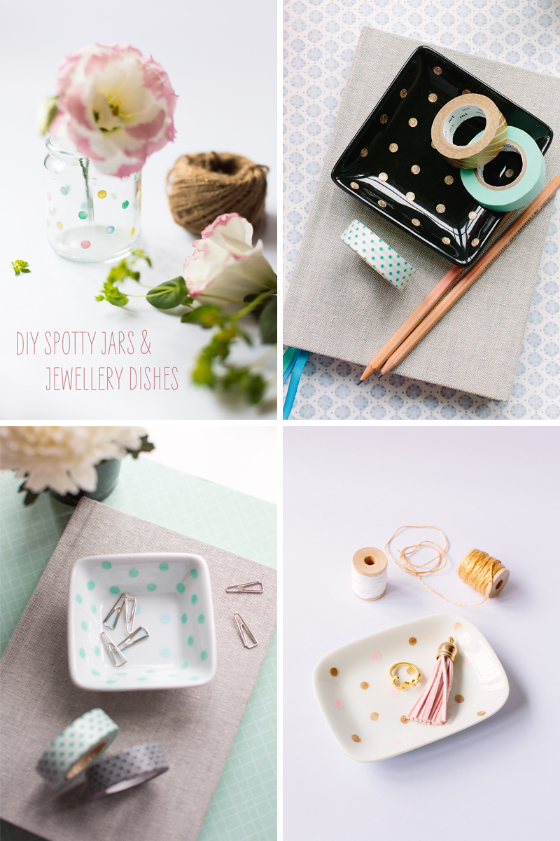 Spotty Vase & Jewellery Dish | Scissors Paper Stone blog (Jasmine Koh)
