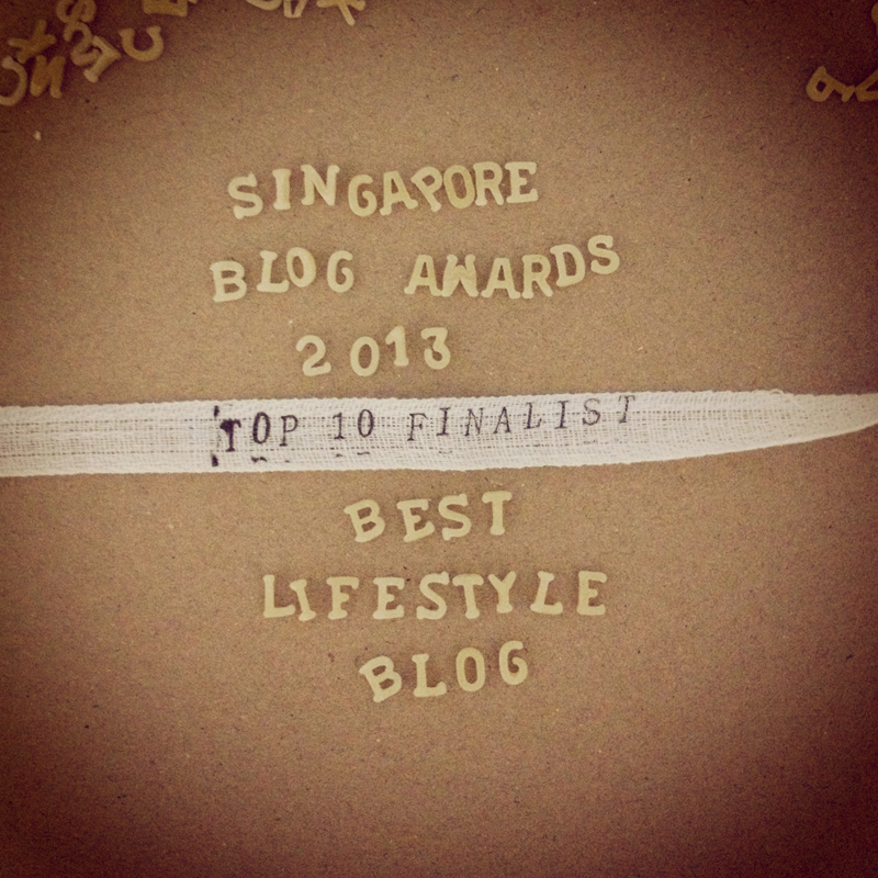 Singapore Blog Awards 2013 Best Lifestyle Blog Finalist | Scissors Paper Stone blog