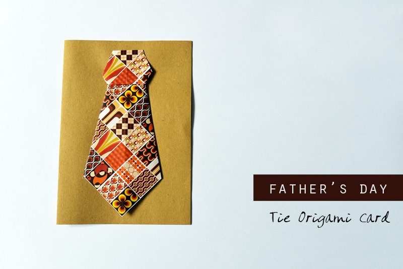 DIY :: Father's Day Tie Origami Card | Scissors Paper Stone blog