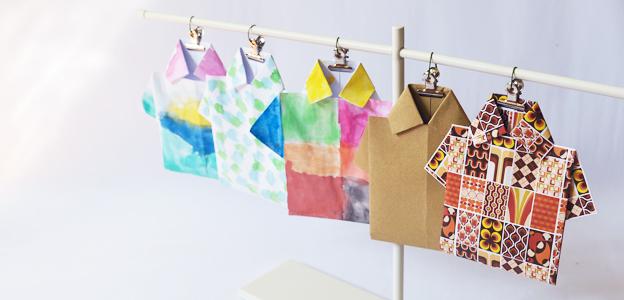 T-Shirt Origami Bookmark | Scissors Paper Stone Blog