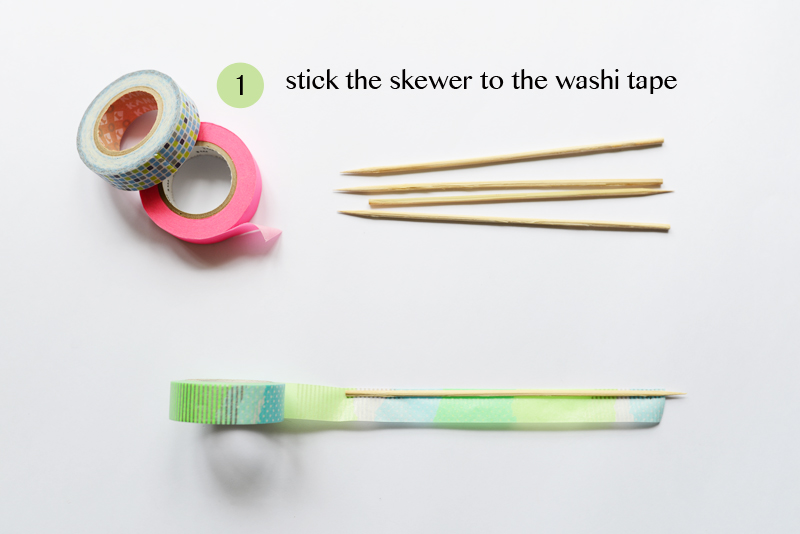 DIY Craft Tutorial - Make Washi Tape Pick Up Sticks (an old childhood game played in Singapore) via www.scissorspaperstoneblog.com