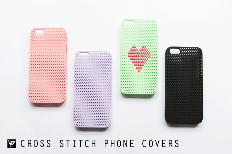 Find Cross Stitch Phone Covers via www.scissorspaperstoneblog.com