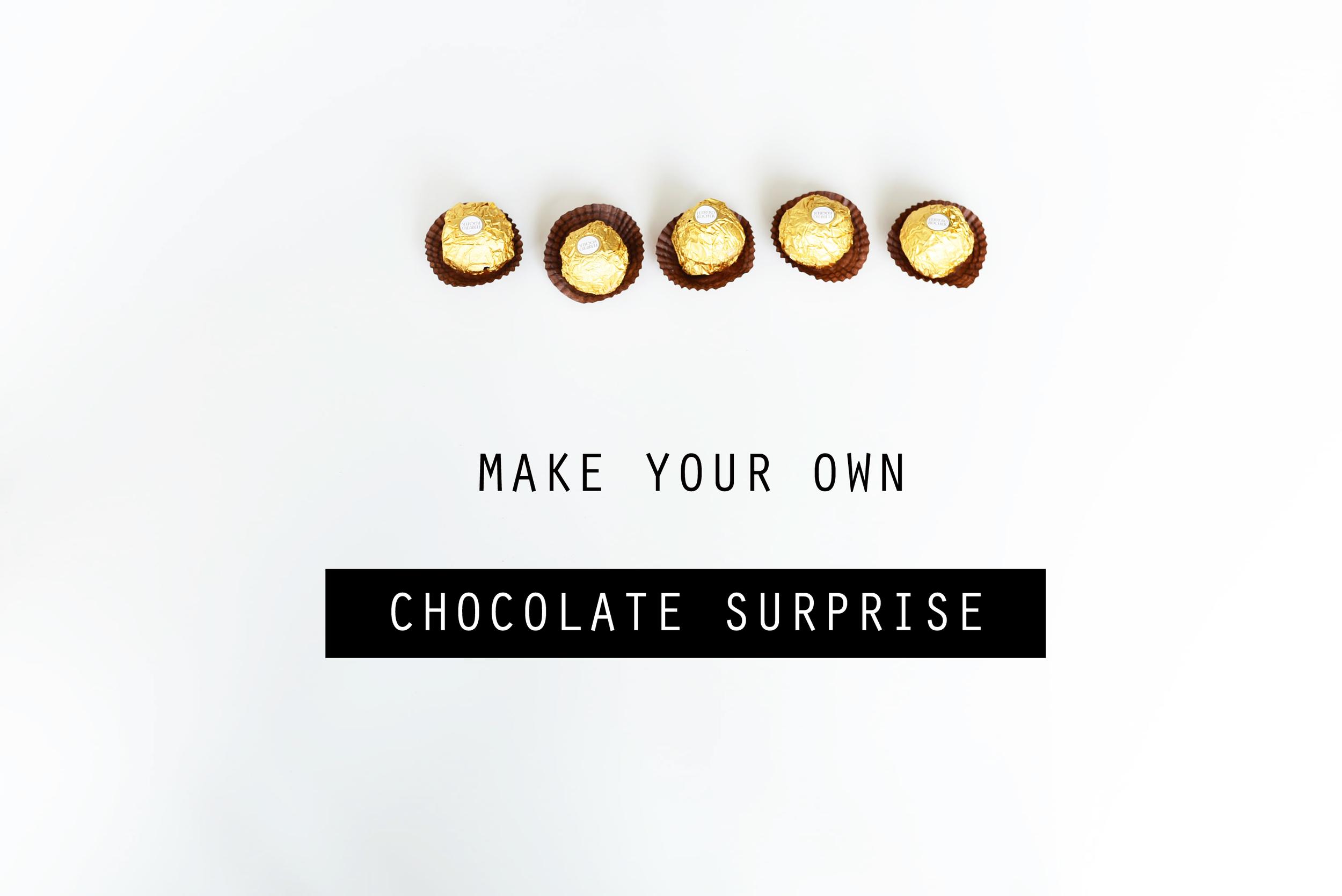 ferrero rocher surprise chocolates :: april fools' day craft   scissors paper stone blog www.scissorspaperstoneblog.com