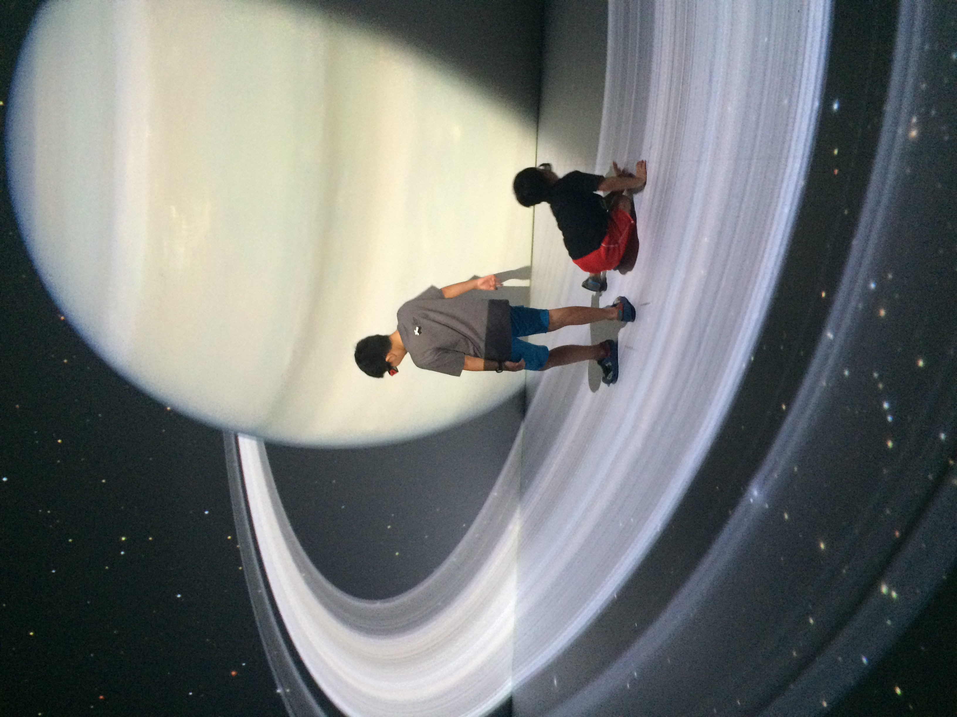 Deep Space - The 3D Show where you are invited to roam around themulti-dimensional space.