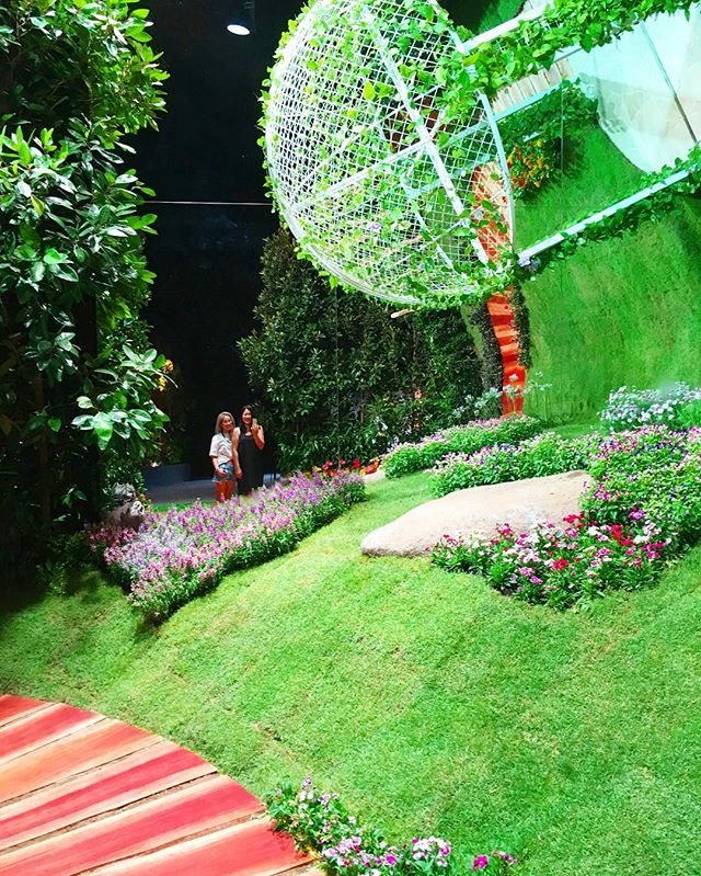 "I took an early morning walk with @jerilynmoon at the #singaporegardenfestival this morning. There were so many different inspiring and mystical displays. It was invigorating! Here's a peek at one of the first few displays that we saw. Called ""Dare to Dream"", the vertical landscaping and gazebo was cleverly designed to prod us to dream the impossible. Are you in need of some courage or inspiration? The festival is on till 31 July 2016."
