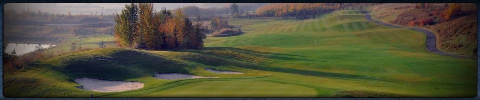 scenic river valley setting of The Quarry Golf Course in Edmonton