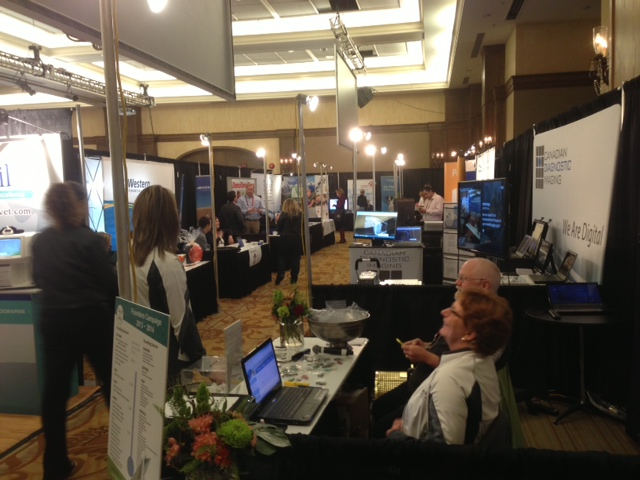View of Canwest 2014 veterinary conference trade show area